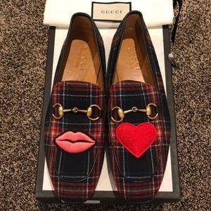 Gucci Tartan Shirting Horsebit Loafer, New in Box
